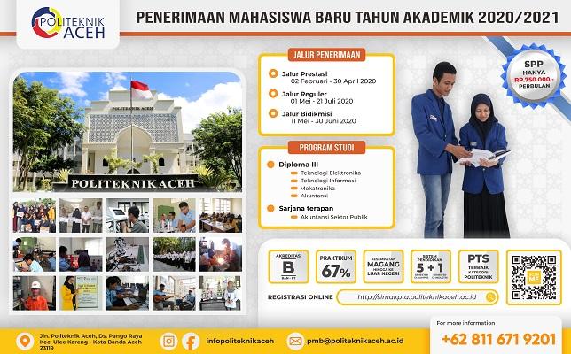 Politeknik Aceh Penerimaan Mahasiswa Baru Politeknik Aceh Tahun 2020 2021